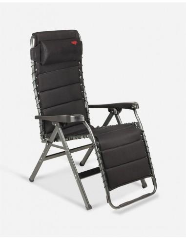 Tumbona relax multi posiciones acolchada negro. Crespo AP-232 Air Deluxe  - 1