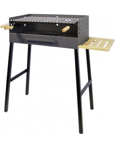 Barbacoa metálica negra con parrilla inox 93x68x40cm. Imex el Zorro 71440  - 1