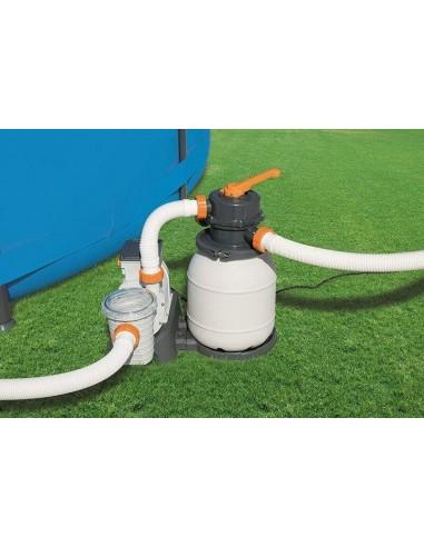 Depuradora de filtro de arena, 11355 litros/hora, ø38mm. Bestway 58486  - 1