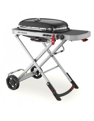 Barbacoa de gas plegable y portátil con ruedas. Weber Traveller 9010053  - 1