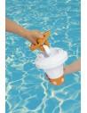 Dispensador flotante de cloro para piscinas + pinza. Bestway 58474  - 1